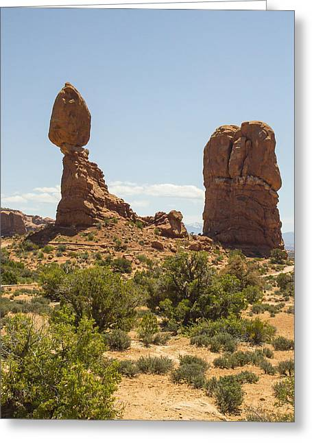 Balancing Rock In Arches Greeting Card