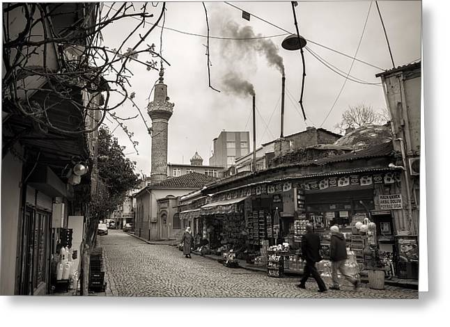Balat Neighborhood In Istanbul Greeting Card by For Ninety One Days