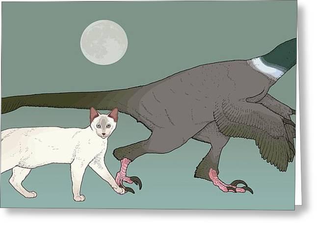 Balaur Bondoc Dinosaur Greeting Card by Nemo Ramjet