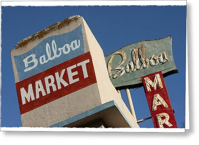 Balboa Market Greeting Card