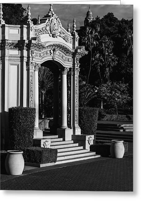 Balboa Park Greeting Card by Joseph Smith
