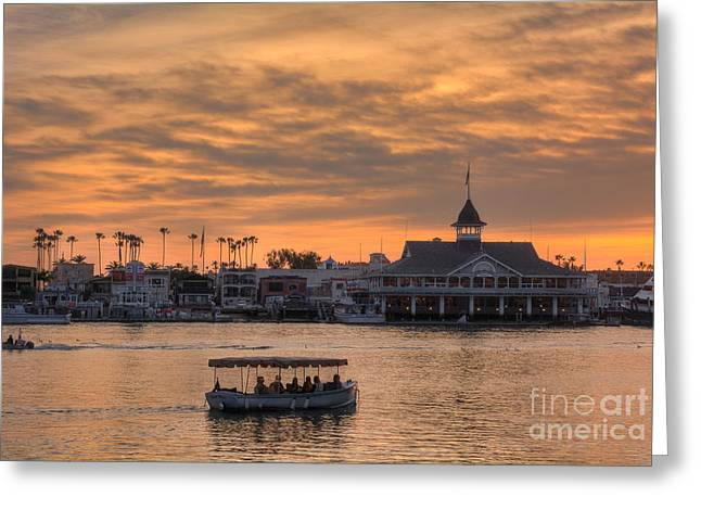 Balboa Pavilion Greeting Card by Eddie Yerkish