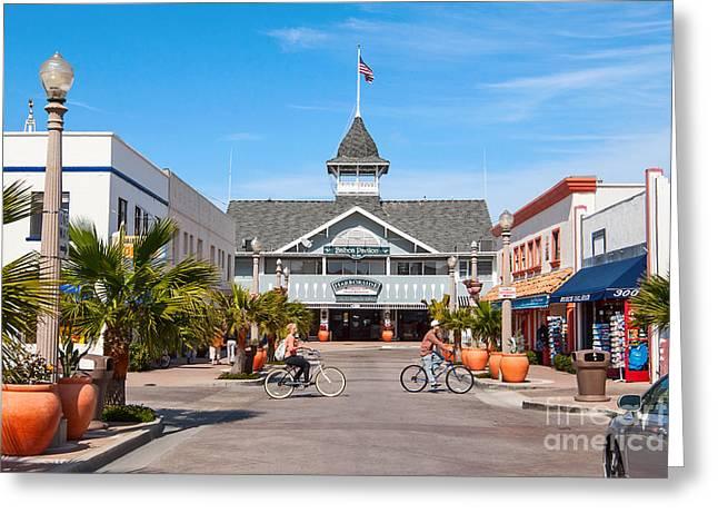 Balboa Pavilion In Newport Beach California. Greeting Card by Jamie Pham