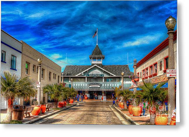 Greeting Card featuring the photograph Balboa Pavilion by Jim Carrell