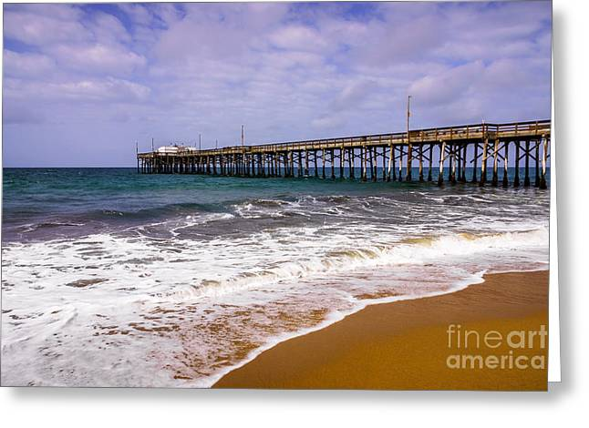 Balboa Pier In Newport Beach California Greeting Card by Paul Velgos