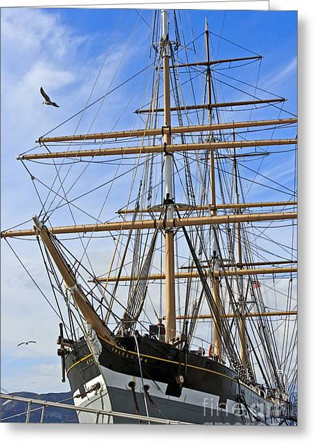 Greeting Card featuring the photograph Balclutha by Kate Brown