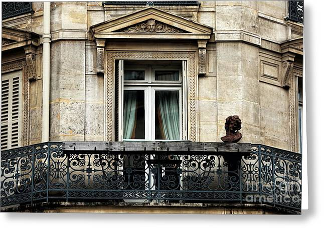 Balcon Quartier Latin Greeting Card by John Rizzuto