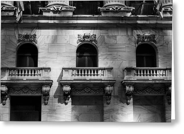 Balconies At Nyse  Greeting Card
