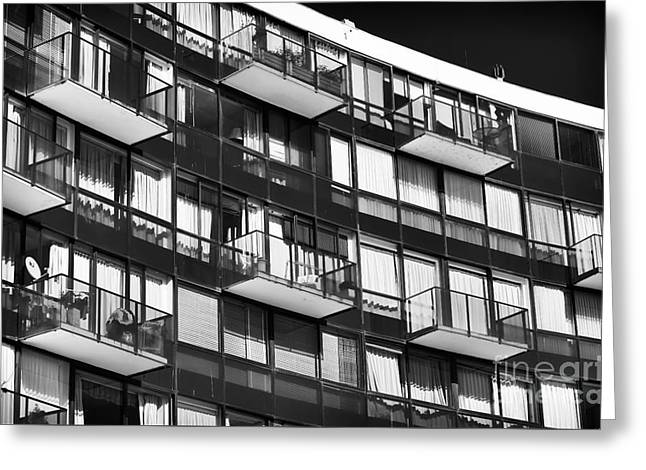 Balconies In Vina Del Mar Greeting Card by John Rizzuto