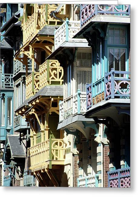 Balconies, Mers Les Bains, France Greeting Card by Alex Bartel