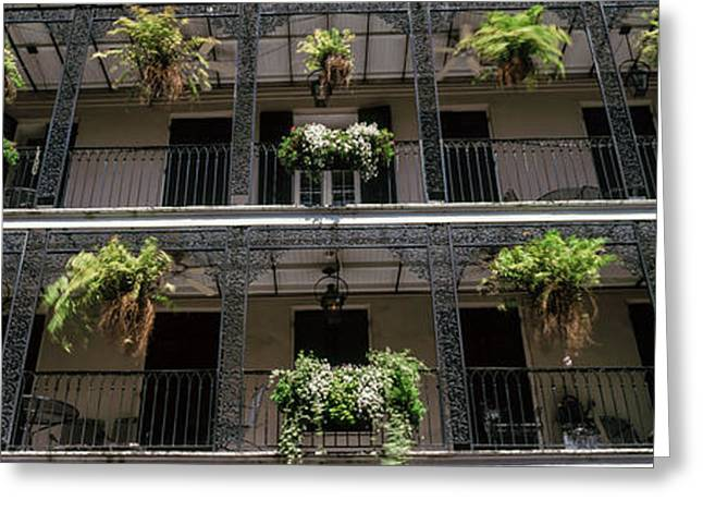 Balconies Of A Building, French Greeting Card
