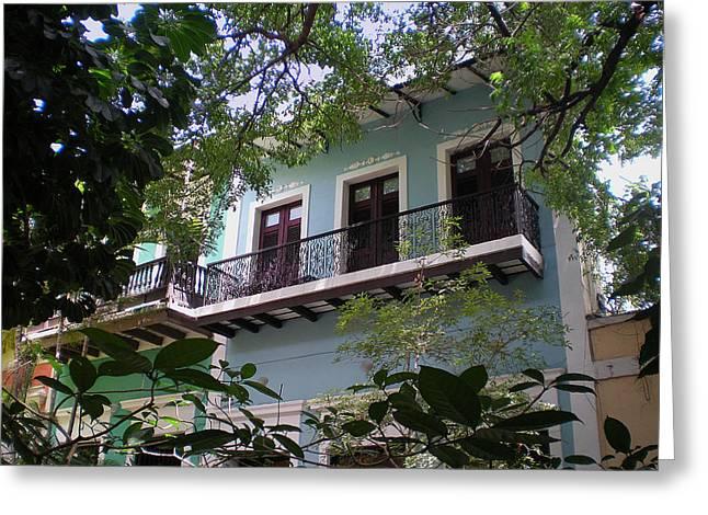 Balcony At La Caleta Greeting Card