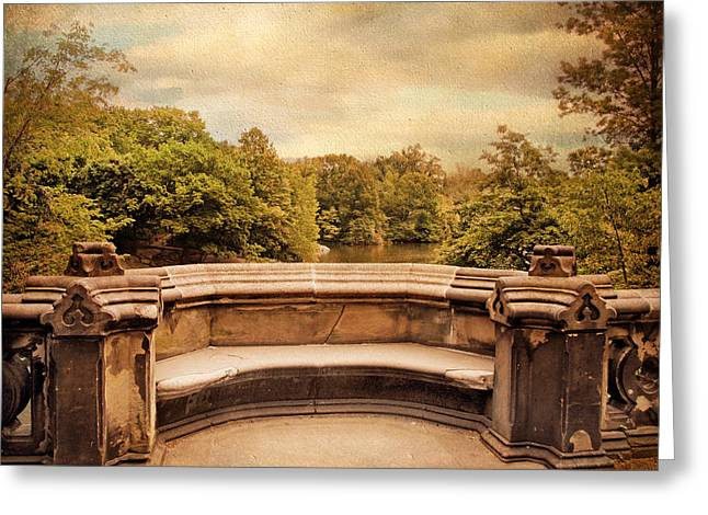 Balcony Bridge Greeting Card by Jessica Jenney