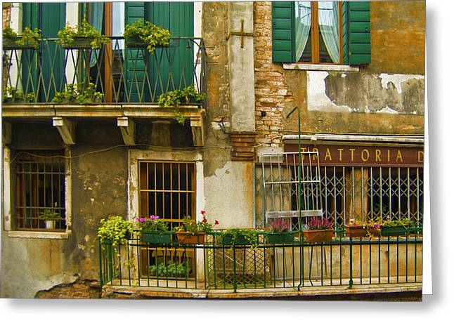 Balcony Greeting Card by Francois Girard