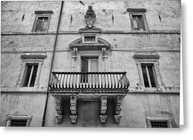 Balcony In Assisi Greeting Card