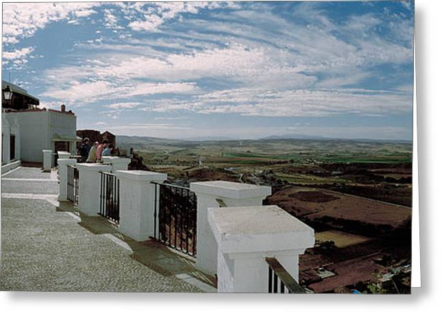 Balcony Of A Building, Parador, Arcos Greeting Card by Panoramic Images