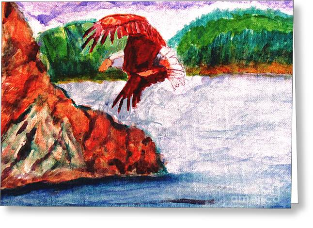 Bald Eagle Greeting Card by Stanley Morganstein