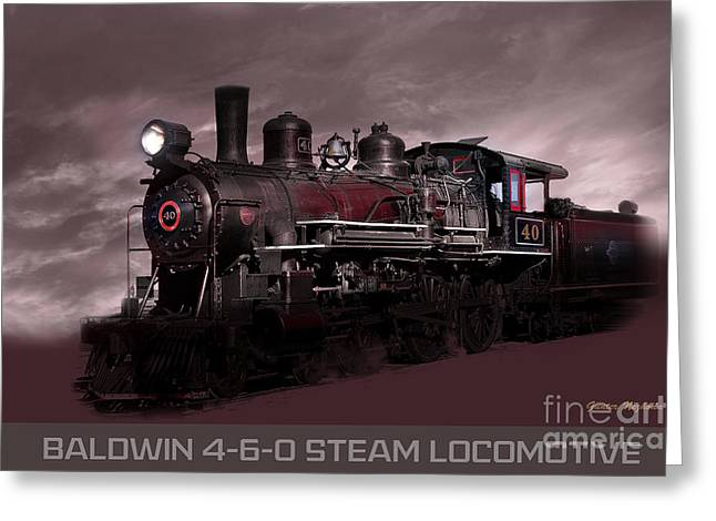 Baldwin 4-6-0 Steam Locomotive Greeting Card