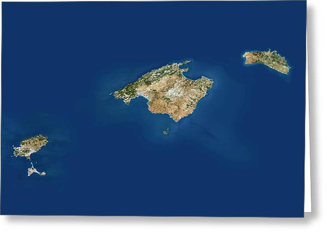 Balearic Islands Greeting Card by Planetobserver/science Photo Library