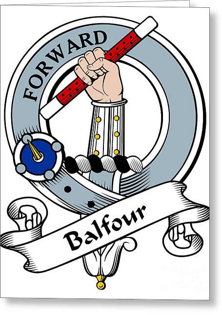 Balfour Clan Badge Greeting Card by Heraldry
