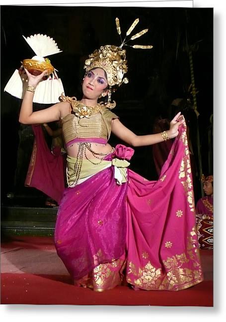 Bali Dancer Greeting Card by Jack Edson Adams