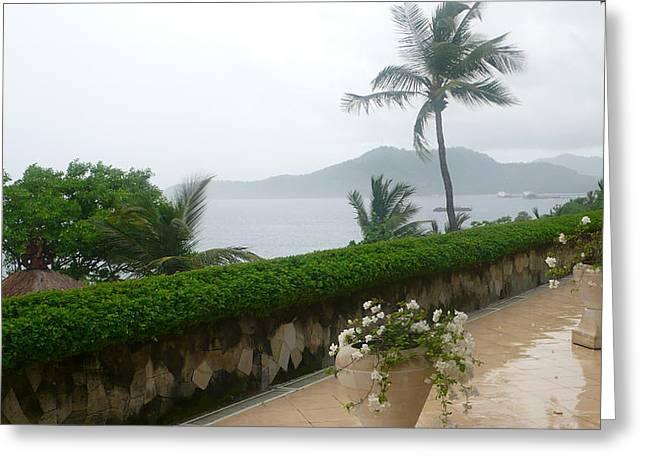 Bali In Th Rain Greeting Card by Jack Edson Adams
