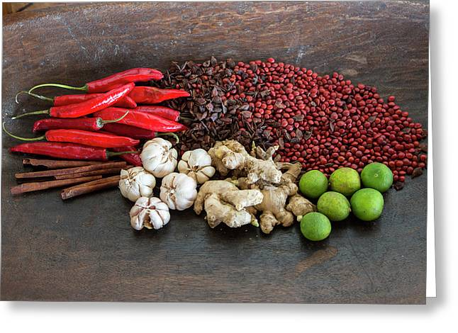 Bali, Indonesia Balinese Spices Greeting Card