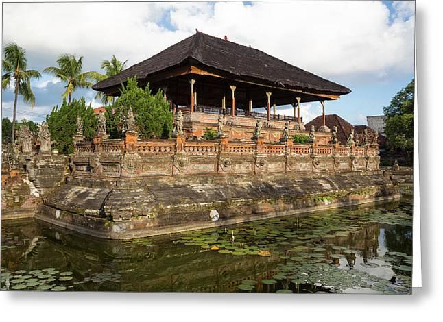 Bali, Indonesia The Bale Kambang Greeting Card
