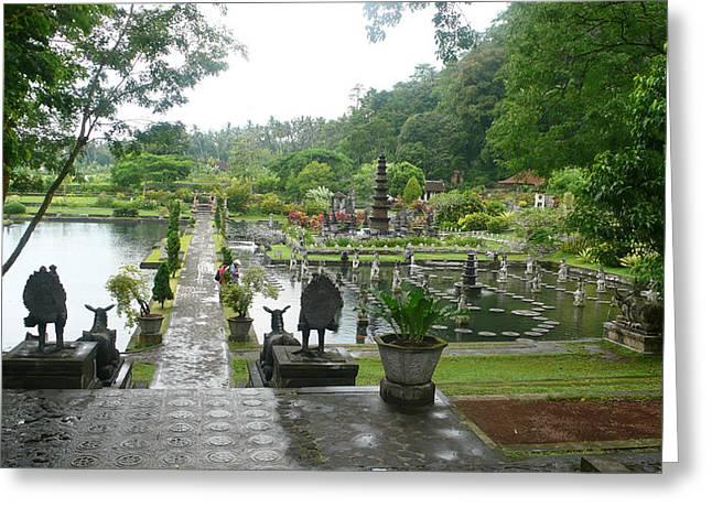 Bali Lake Side Greeting Card by Jack Edson Adams