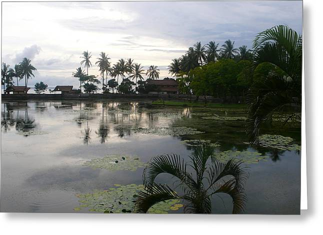 Bali Reflections In The Bay Greeting Card by Jack Adams