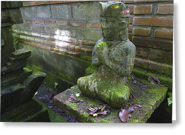 Balinese Praying Figure Greeting Card