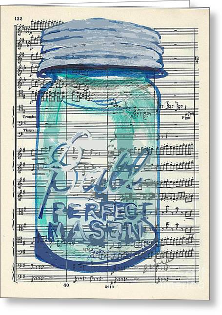 Greeting Card featuring the painting Ball Jar Classical  #132 by Ecinja Art Works