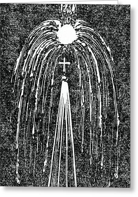 Ball Lightning On A Church Spire Greeting Card