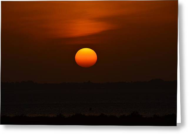 Greeting Card featuring the photograph Ball Of Fire by Debra Martz