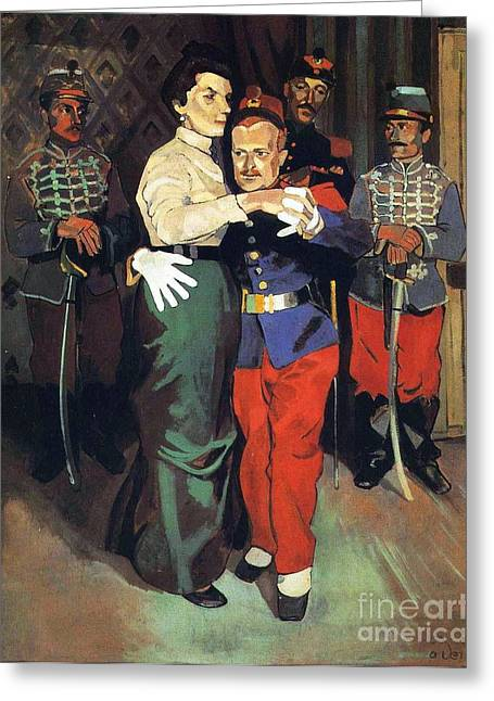 Ball Of Soldiers In Suresnes Greeting Card by Pg Reproductions