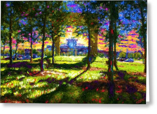 Ballantyne Village Greeting Card by Preston Sandlin