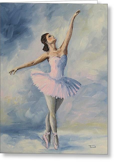 Ballerina 001 Greeting Card by Torrie Smiley