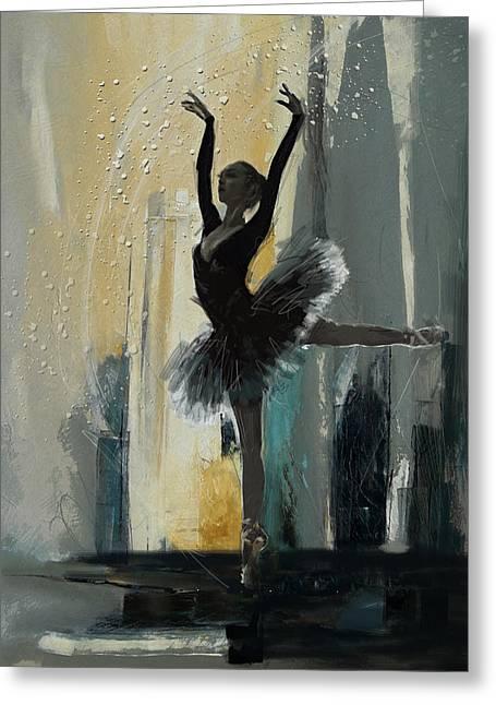 Ballerina 18 Greeting Card by Mahnoor Shah