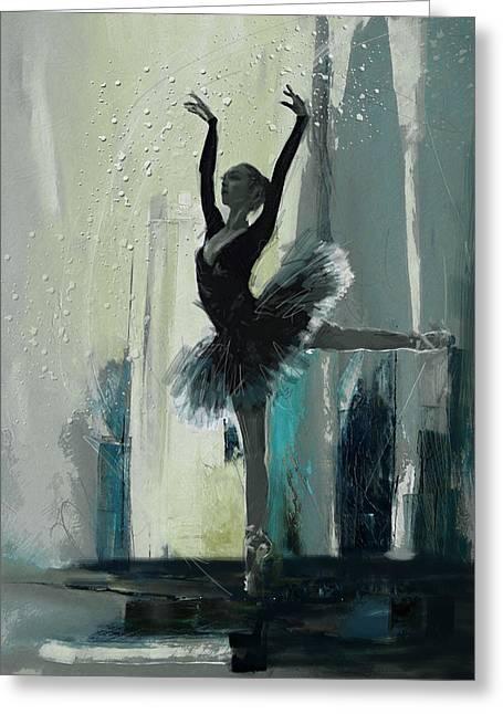 Ballerina 19 Greeting Card by Mahnoor Shah