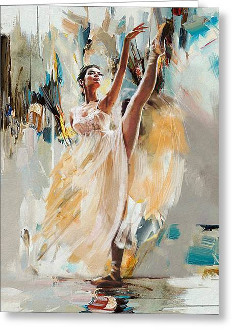 Ballerina 24 Greeting Card by Mahnoor Shah