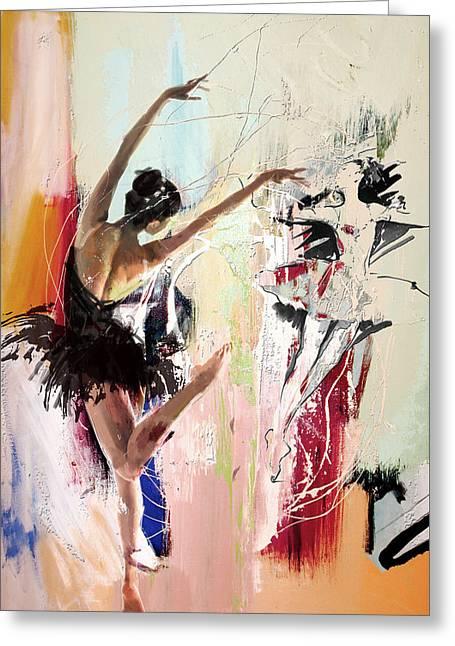 Ballerina 30 Greeting Card by Mahnoor Shah