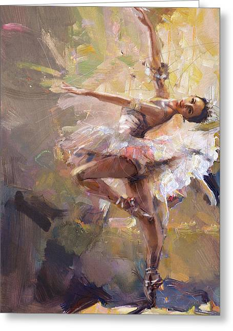 Ballerina 35 Greeting Card by Mahnoor Shah