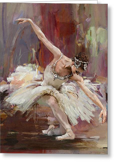 Ballerina 36 Greeting Card by Mahnoor Shah