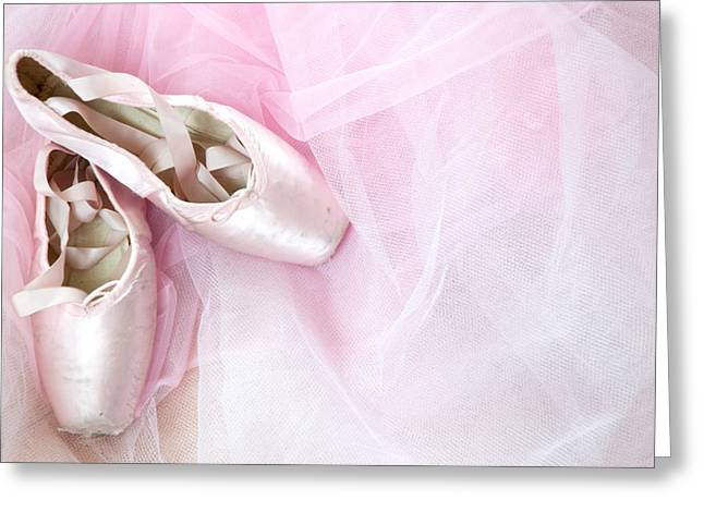 Ballerina Dreams Greeting Card by Zina Zinchik