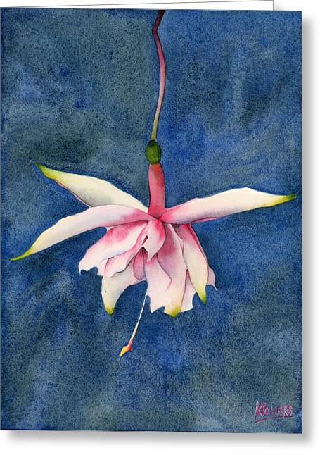 Greeting Card featuring the painting Ballerina Flower by Ken Powers