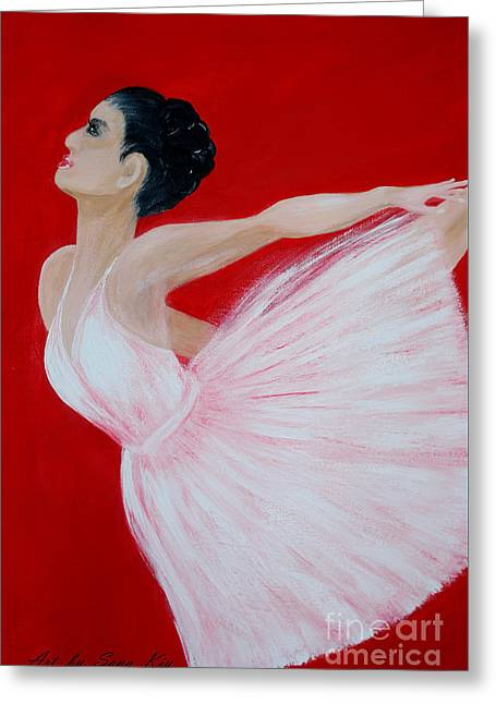 Ballerina.  Grace. Inspirations Collection Greeting Card by Oksana Semenchenko
