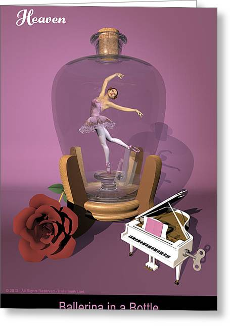 Ballerina In A Bottle - Heaven Greeting Card by Alfred Price