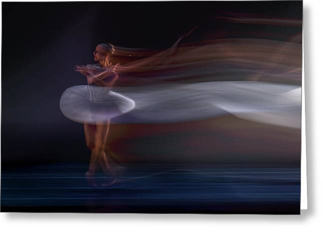 Ballerina Greeting Card by Libby Zhang