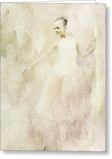 Ballerina Greeting Card by Linda Blair