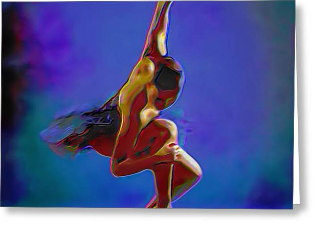 Ballerina On Point Greeting Card by  Fli Art